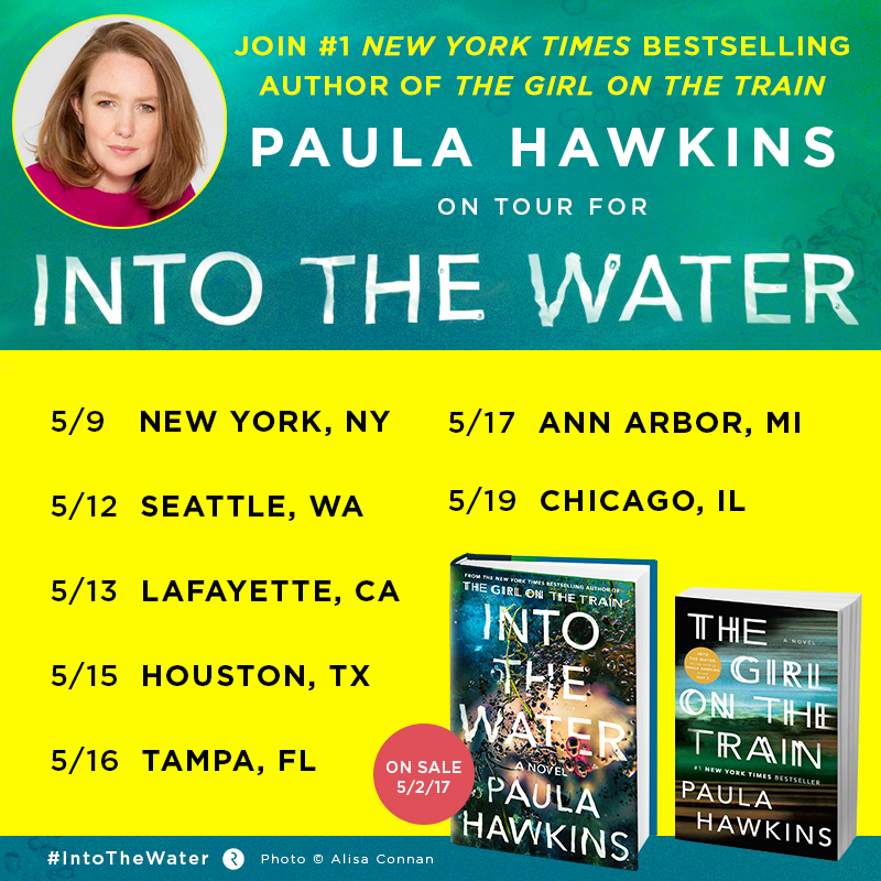 Paula Hawkins Into The Water Book Tour